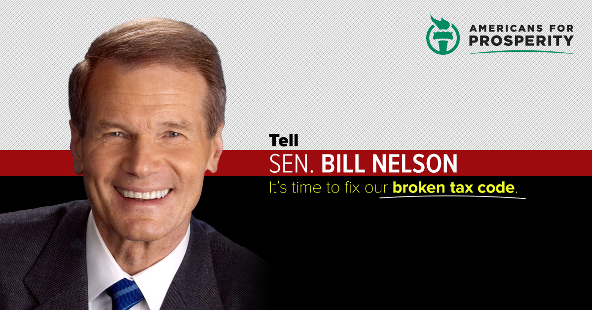 Tax Reform Bill 2017 >> AFP launches a campaign targeting Bill Nelson on tax reform