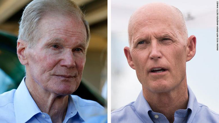 Epic Political Battle Begins: Rick Scott Challenges Bill Nelson For Senate Seat