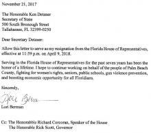 Berman's Resignation. Click to enlarge