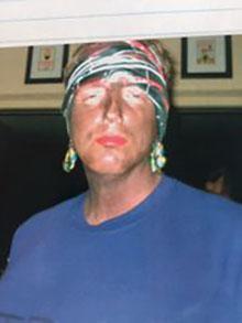 Mike Ertel in blackface