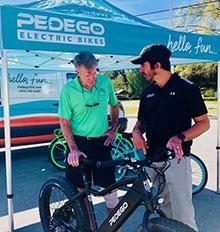 Gene Jones with Pedego 30A owner Jason Medina