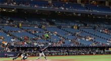 Rays fan presence on a typical night at Tropicana