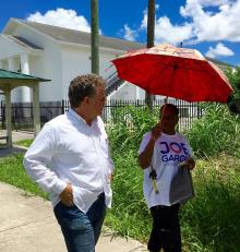 Florida City Vice Mayor Sharon Butler campaigns with Joe Garcia in CD 26