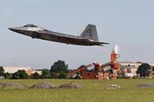 F-22 takes off from Tyndall days before the storm