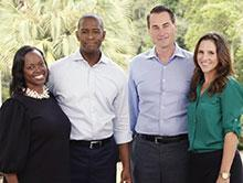 Andrew Gillum and Chris King with their wives