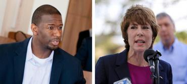Andrew Gillum and Gwen Graham