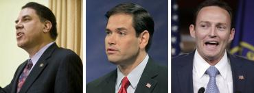 Alan Grayson, Marco Rubio and Patrick Murphy
