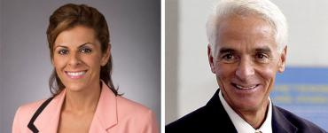 Amanda Makki and Charlie Crist