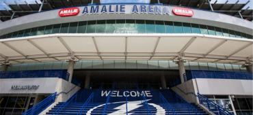 After only two home playoff games, Amalie Arena stands silent