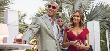 "Dwayne Johnson in HBO's so-called ""Florida"" comedy, ""Ballers"""