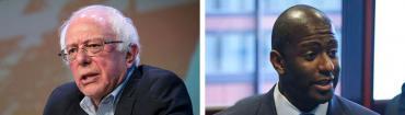 Bernie Sanders and Andrew Gillum