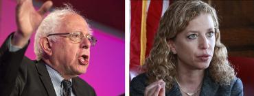 Bernie Sanders and Debbie Wasserman Schultz