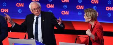 Bernie Sanders and Elizabeth Warren, Night 1, Debate 2