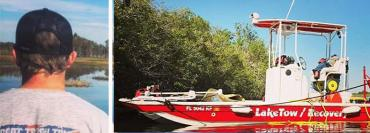 Bill Matchekowsky and the lake rescue boat