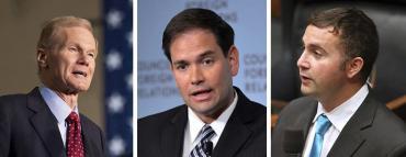 Bill Nelson, Marco Rubio and Darren Soto