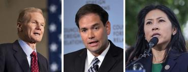 Bill Nelson, Marco Rubio and Stephanie Murphy