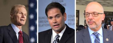 Bill Nelson, Marco Rubio and Ted Deutch