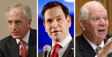 Bob Corker, Marco Rubio and Ben Cardin