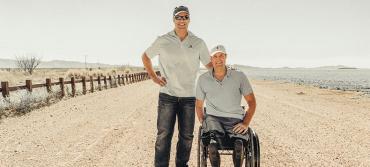 Florida vet Brian Kolfage in New Mexico, near the Mexican border