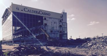 Demolishing of grandstand at Calder