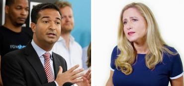 Carlos Curbelo and Debbie Mucarsel-Powell