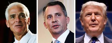 Charlie Crist, David Jolly and Donald Trump