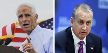 Charlie Crist and Mario Diaz Balart