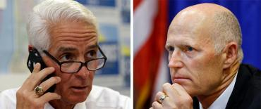 Charlie Crist and Rick Scott