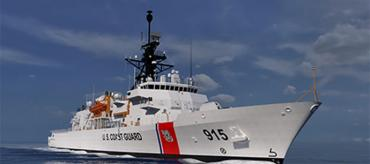 A U.S. Coast Guard offshore patrol cutter