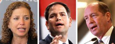 Debbie Wasserman Schultz, Marco Rubio and Ted Yoho