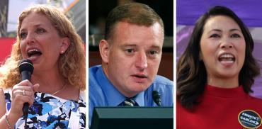 Debbie Wasserman Schultz, Tom Rooney and Stephanie Murphy