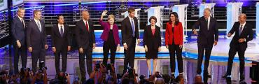Wednesday night's presidential candidates on the Miami debate stage