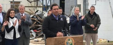 Gov. Ron DeSantis in Marianna Thursday