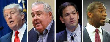 Donald Trump, John Morgan, Marco Rubio and Andrew Gillum