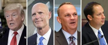 Donald Trump, Rick Scott, Richard Corcoran and Joe Negron