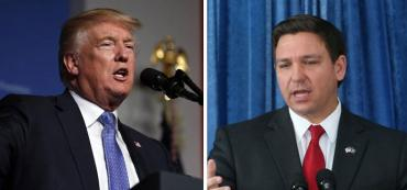 Donald Trump and Ron DeSantis