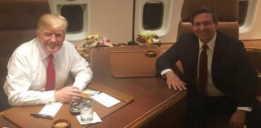 Donald Trump and Ron DeSantis