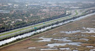 The upgraded East Coast Protective Levee
