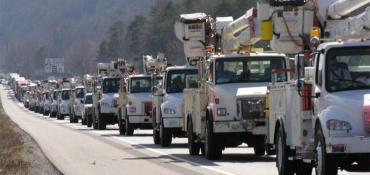 Utility trucks deployed after 2017's Irma