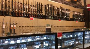 Gun walls of a Dick's Field & Stream store