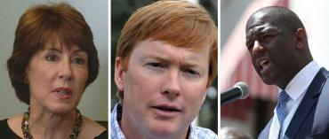Gwen Graham, Adam Putnam and Andrew Gillum