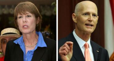 Gwen Graham and Rick Scott