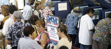 Hispanic voters go to the polls