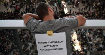 A recent protest at the airport in Hong Kong