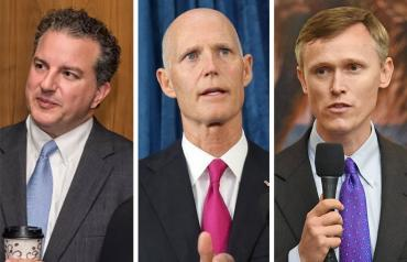 Jimmy Patronis, Rick Scott and Frank White
