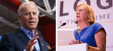 Joe Biden and Nancy Soderberg