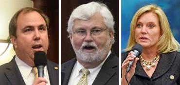 Joe Gruters, Jack Latvala and Heather Fitzenhagen