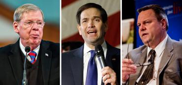 Johnny Isakson, Marco Rubio and Jon Tester