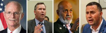 John Rutherford, Mike Waltz, Alcee Hastings and Darren Soto