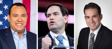 Jose Mallea, Marco Rubio and Daniel Perez